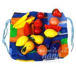 Волшебный мешочек фрукты-ягоды цветные от 3 лет RNToys Д-297