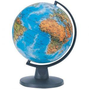 Глобус географический физический Ариез d=16 без подсветки