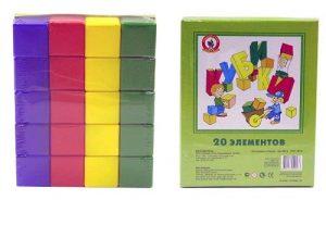 Кубики 20 элементов 09016