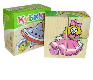 Кубики игрушки 4шт 3333-3