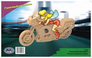 Конструктор деревянный Чернусь Гоночный мотоцикл Р023
