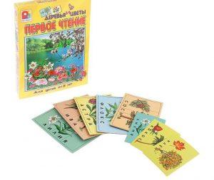 Игра Первое чтение Деревья и цветы