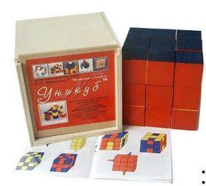 Кубики Уникуб коробка фанера 1003 СВ01002