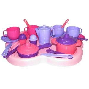 Набор детской посуды Янина с подносом на 4 персоны 4060
