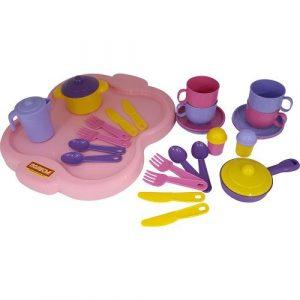 Набор детской посуды Янина с подносом на 6 персон 4077