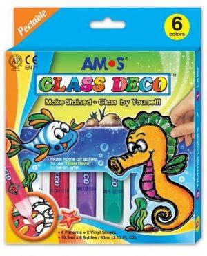 Набор витражных красок Amos Морской конек 5цветов по 10