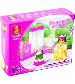 Конструктор SLUBAN Розовая мечта мебель с фигуркой принцессы 29дет в кор М38-В0237