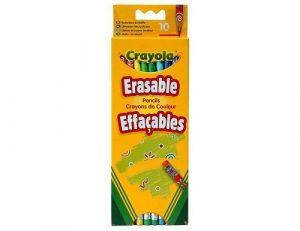 10 цветных карандашей с корректорами