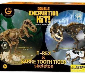 GEOWORLD Раскопки двойной набор Т-рекс и Саблезубый тигр CL166K