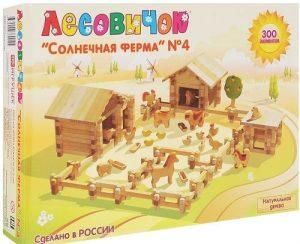 Конструктор Лесовичок Солнечная ферма № 4 набор из 300 дет les 015