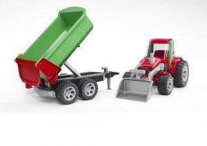 Bruder Трактор с ковшом и прицепом Roadmax 20116