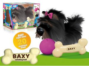Собака BAXY интерактивная на батарейках в коробке IMC TOYS 5716