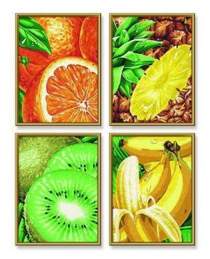 Раскраска 18/24 Тропические фрукты 9340605 (Симба)