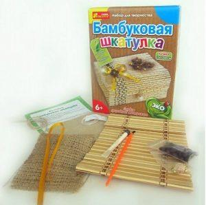 Наборы для творчества Бамбуковая шкатулка 3043-02