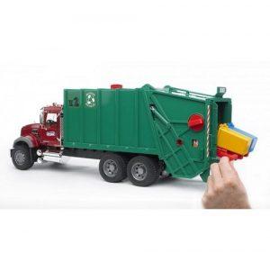 Bruder Мусоровоз МАКС зеленый фургон красная кабина 02-812