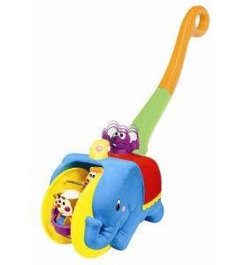 Игровая каталка с ручкой Цирковой слон 049759
