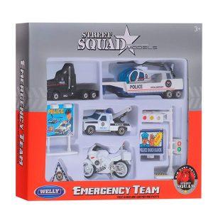 Игровой набор Служба спасения Полиция 9шт 98630-9А