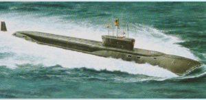 Игрушка атомная подвод лодка баллистических ракет Александр Невский 135072