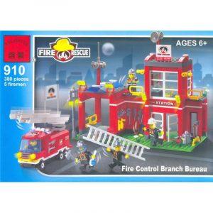 Конструктор BRICK Пожарная станция 380 дет 910