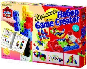Конструктор ARTEC Game Creator 20 логических игр 130 деталей 152211