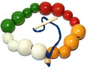 Бусы шары цветные Большие и маленькие 16 шт Д-566