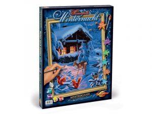 Раскраска Романтическая зимняя ночь 9130630