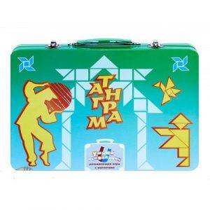 Умный чемоданчик ТАНГРАМ металлический с магнитами 8073