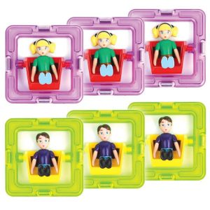 Магнитный конструктор Magformers 3 мальчика и 3 девочки 60203