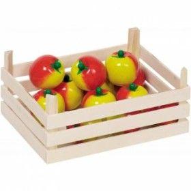 Игрушечные овощи и фрукты набор 10 шт в ящике GOKI 51658