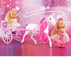 Две Еви-принцессы + лошадь с каретой 5736646