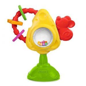 Игрушка для стульчика Мышка с сыром и крекерами CHICCO 05832