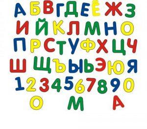 Мозаика мягкая для малышей Алфавит и цифры МЕГА 45921