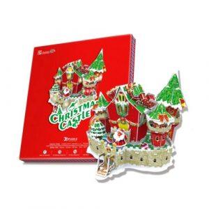 Сказочный рождественский замок с подсветкой P646h