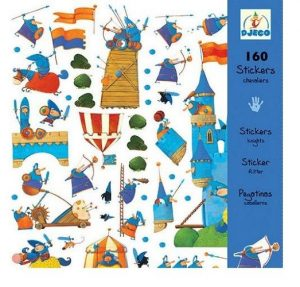 DJECO 160 наклеек Рыцари 08831