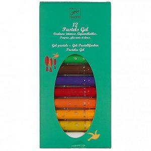 DJECO Набор пастельных карандашей 12шт 08805