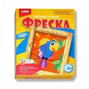 Фреска Картина из песка Разноцветный попугай Кп-021