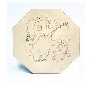Фигурная доска для выжигания Слоненок 700-27104