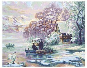 Раскраска 40/50 Горное озеро зимой 9130700 (Симба)