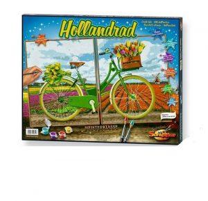 Триптих Голландский велосипед 80х50 см Германия 9420692