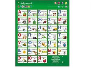 Дидактический набор Рыжий кот Звуковой плакат Говорящий алфавит 475х590мм ЗП-1559