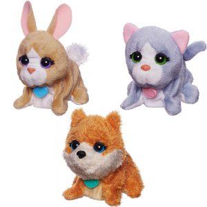 Поющие зверята игрушки изобр животных мягконабивные В0698