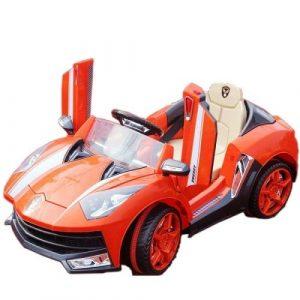 TjaGo Электромобиль 3-6 лет Lamborghini 2 мотора 6v7AH р/у МП3 надувн Оранжевый 8188