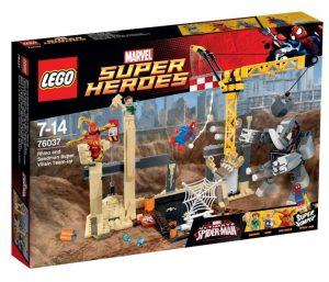 Игрушка Lego Super Heroes Носорог и Песочный человек против Супергероев 76037