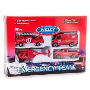 Игрушка набор Служба спасения - пожарная команда 4 шт 98630-4С