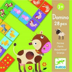 DJECO Детская настольная игра Домино Животные 08158