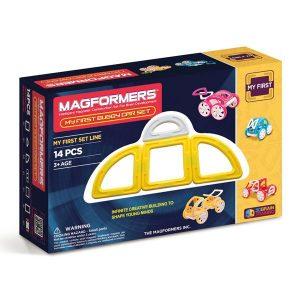 Магнитный конструктор Magformers My first Buggy Car желтый 63144