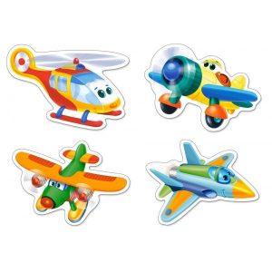 Пазл Castorland Смешные самолеты 3#4#6#9 деталей В-005048 3+