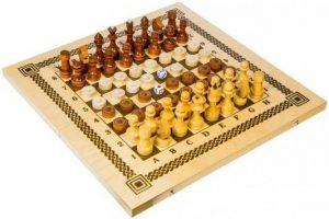 Настольная игра Три в одном Нарды шашки шахматы В-7 6+