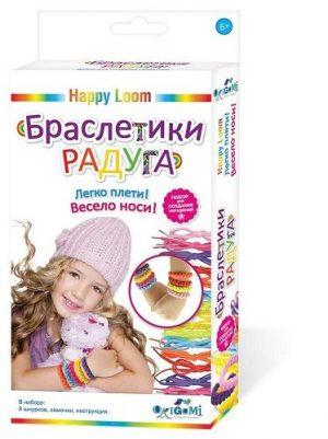 Happy loom Набор для создания браслетов Браслетики радуга 01725