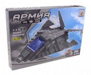 Конструктор AUSINI Армия Самолет Невидимка F-117 259 дет 22603